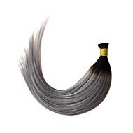 ombre szary przechylić przedłużania włosów prosto 1b / szary keratyny przedłużania włosów Fusion 1g / s
