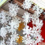 6шт / 1set трехмерные снежинки на извилистой стерео цепи снега