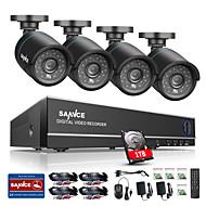 sannce® 8ch 4 в 1 720p HDMI ахд 4шт CCTV DVR 1.0 т.пл система ИК открытая пуля безопасности камеры видеонаблюдения встроенный в 1tb НЖМД