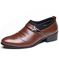 Masculino sapatos Courino Primavera Verão Outono Inverno Conforto Botas da Moda Oxfords Tachas Para Casual Festas & Noite Preto Marron