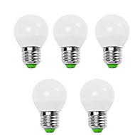 5w e14 / e26 / e27 žárovky žárovky g45 12 smd 2835 450 lm teplá bílá / studená bílá ozdobné v 5 ks