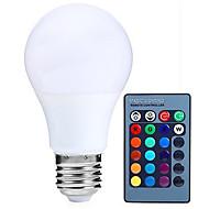 5W E26/E27 LED kulaté žárovky A60(A19) 15 SMD 5050 200-300 lm R GB Dálkové ovládání Ozdobné Stmívatelné V 1 ks