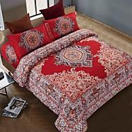 bedtoppings 4stk satt dronningen en dyne dyne dynetrekk / en flat ark / 1 putevar fast utforming poly bohemsk stil
