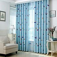 Dvije zavjese Prozor Liječenje Zemlja , Cvijet Bedroom Polyester Materijal Blackout Zavjese Zavjese Početna Dekoracija For Prozor