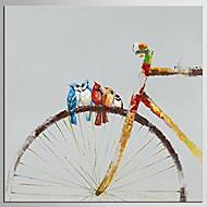 Pintados à mão Abstrato / Desenho Animado Pinturas a óleo,Moderno / Clássico 1 Painel Tela Pintura a Óleo For Decoração para casa