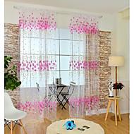 Jedna ploča Prozor Liječenje Moderna , Cvijet Dječja soba Mješavina poliester/pamuk Materijal Sheer Zavjese Shades Početna Dekoracija For