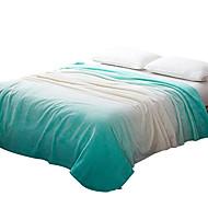 Plysj Grønn,Trykket Kurv 100% Polyester tepper