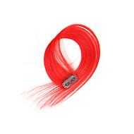 여성을위한 2 개 / 헤어 확장에 설정 4 클립 클립 빨간색 14inch의 18 인치 100 % 인간의 머리
