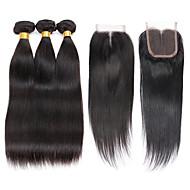 4 Peças Retas Tramas de cabelo humano Cabelo Brasileiro 100g per bundle 8inch-28inch Extensões de cabelo humano