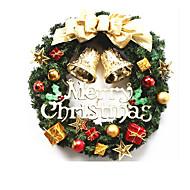 Christmas Decorative Gift Pendant Gold Wreath Door Decoration 30CM