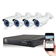 쉐이드와 NVR jooan® 2MP 4 채널 포 보안 시스템 높은 해상도 야외 포의 IP 카메라 1080p의