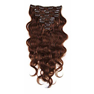 인간의 머리카락 확장 브라질 처녀 머리도 7a 아프리카 계 미국인 바디 웨이브 클립 인 클립