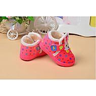 Kinder Baby Schuhe Stoff Winter Lauflern Flache Schuhe Für Normal Braun Rosa