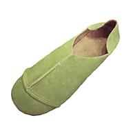 Feminino Mocassins e Slip-Ons Conforto botas de desleixo Couro Ecológico Primavera Verão Outono Casual Conforto botas de desleixoSalto