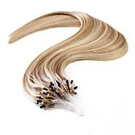 neitsi 20 '' suoraan mikro rengas ihmisen hiusten pidennykset suora helppo silmukka Remy hiukset ombre 25g 1g / s