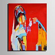 Ручная роспись Абстракция Люди Вертикальная,Modern Европейский стиль 1 панель Холст Hang-роспись маслом For Украшение дома