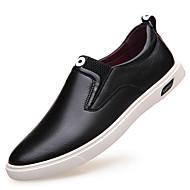 Miehet kengät Nahka Kevät Kesä Syksy Talvi Comfort Muotisaappaat Mokkasiinit Solmittavat Käyttötarkoitus Kausaliteetti Juhlat Musta Hopea
