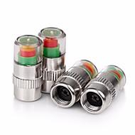 ziqiao 4pcs / conjunto da pressão dos pneus do carro válvula monitor de alerta tampão haste do sensor indicador olho