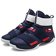 Herre Sportssko Komfort Tekstil Vår Sommer Høst Atletisk Basketball Komfort Snøring Magisk teip Flat hælMørkeblå Svart/Blå Hvit og Grønn