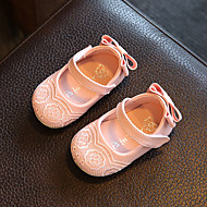 Baby Flache Schuhe Komfort Schuhe für das Blumenmädchen Kunstleder Frühling Herbst Normal Walking Komfort Schuhe für das Blumenmädchen