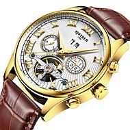 KINYUED Pánské Hodinky k šatům Hodinky s lebkou Módní hodinky Náramkové hodinky mechanické hodinky Automatické natahováníKalendář