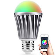 Smart førte E27 pære bluetooth 4.0 RGBW lys vandmodstand / dæmpbar / timing / app fjernbetjening / sovende humør lampe / energibesparelse