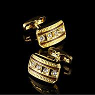 New Gold Cufflinks Men's Jewelry Golden French Cuff links Shirt Sleeve Buttons Design Brand Men Suit Buttons Wedding Gifts