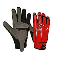 Перчатки Велоспорт С защитой от ветра Анти-скольжение унисекс Красный Чёрный Хлопок Нейлон