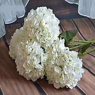 1 Branch Plastic Hydrangeas Tabletop Flower Artificial Flowers