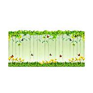 Floral Contemporâneo Adesivo de Porta,PVC/Vinil Material Decoração de janela