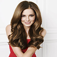 #6 Chestnut Brown Glueless Indian Human Hair Full Lace Wigs Soft Body Wave Human Hair Lace Wigs 8-26 Inch