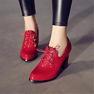 Ženske Oksfordice Udobne cipele PU Zima Kauzalni Niska potpetica Crn Crvena Ravne