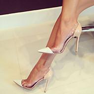 힐-사무실 & 커리어 드레스 파티/이브닝-여성-클럽 신발-에나멜 가죽 PVC-스틸레토 굽-