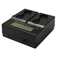 El4a lcd διπλό φορτιστή us καλώδιο για nikon en-el4a el4a el4 κάμερες batterys