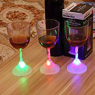 1pcs bar ktv Induktion leuchtende Tasse bunte Licht-emittierende LED Tasse Begegnung Wasser nämlich helle blenden Farbe über der Tasse