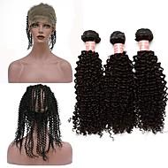 En Pack Solution Peruviansk hår Kinky Krøllet 12 måneder 4 deler hår vever