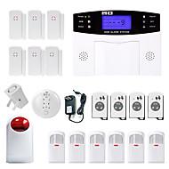 Danmini lcd wirless gsm / pstn hjemmekontor sikkerhet innbrudd innbruddsalarm system røyk induksjon