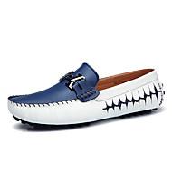 Férfi Vitorlás cipők Kényelmes Búvárcipő PU Tavasz Nyár Hétköznapi Party és Estélyi Gyalogló Kényelmes Búvárcipő Fekete Sötétkék Sárga
