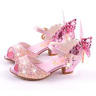 女の子-ウェディング ドレスシューズ カジュアル パーティー-マイクロファイバー-フラットヒール スティレットヒール-コンフォートシューズ アイデア フラワーガールの靴-サンダル-