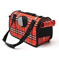 Кошка Собака Переезд и перевозные рюкзаки Слинг Животные Корпусы Компактность Дышащий В клетку Лиловый Красный