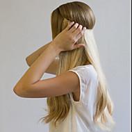 16-24 piilotettu näkymätön lanka silkki suoraan filp käsityönä 100% hiuksista laajentaminen 120g (25cm leveys)