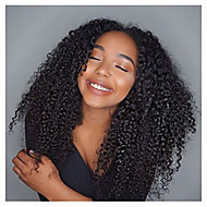 Afro Kinky Curly Lace Front Wig Human Virgin Hair 10-26 Inch Natural Black Color Wig with Baby Hair for Black Women