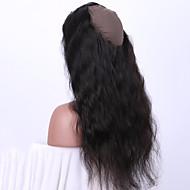 kehon aalto 360 pitsiä edestä sulkeminen vauvan hiusten luonnollisen värin 100% hiuksista Brasilian Remy hiukset ommeltu cap
