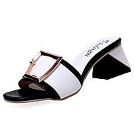 Damen Schuhe Gummi Sommer Komfort Sandalen Walking Block Ferse Für Schwarz Rosa