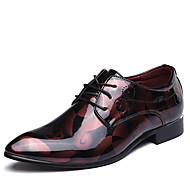 Herrer Sko Læder Forår Sommer Efterår Vinter Bullock sko Formelle sko Modestøvler Oxfords Gang Kombination Til Bryllup Fest/aften Guld
