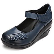 Feminino Sapatos Pele Primavera Tênis Para Preto Vermelho Azul