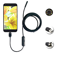2in1 android&Pc 8.0mm Objektiv hd Endoskop 2.0 Megapixel 6 LED ip67 wasserdicht Inspektion Borescope 2m lange flexible Schnur