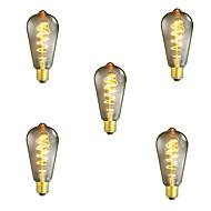 5db szabályozható st64 40w e27 szüreti Edison izzó meleg fehér izzó fény lámpa dekoratív izzó izzólámpa ac220-240v
