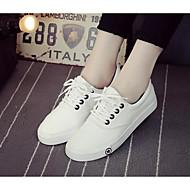 Damen Schuhe Atmungsaktive Mesh PU Frühling Sommer Komfort Sneakers Für Normal Weiß Schwarz Blau