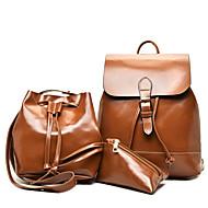 Női táska készletek pu all seasons esküvő esemény / party alkalmi formális iroda&Karrier hordó cipzár barna piros fekete zöld